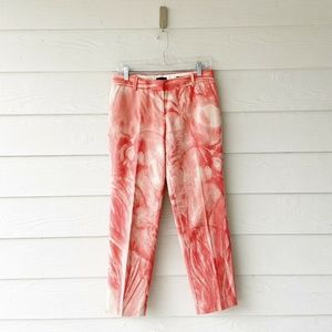 J. Crew Collection Pink Waterfloral Cafe Capri